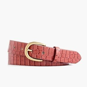 JCrew pink croc leather belt Size XS
